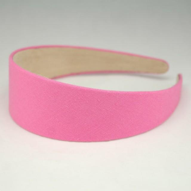 """Plastic Wedding Bands >> 1pc Of 40mm (1 1/2"""") Plastic Headband Vintage Pink Cotton Linen Covered Hairband Aliceband Baby ..."""