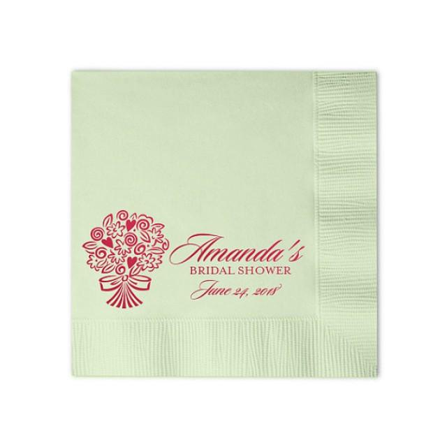 100 personalized napkins beverage luncheon size for Printed wedding napkins