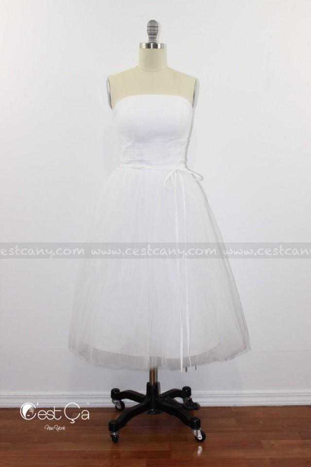 242b9d42c5 New addition for special occasions: tulle dress with layered skirt and  strapless corset top. Perfect as a wedding or bridesmaids dress.