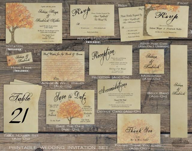 Homemade Fall Wedding Invitations: Rustic Fall Wedding Invitation Suite, Autumn Barn Wedding