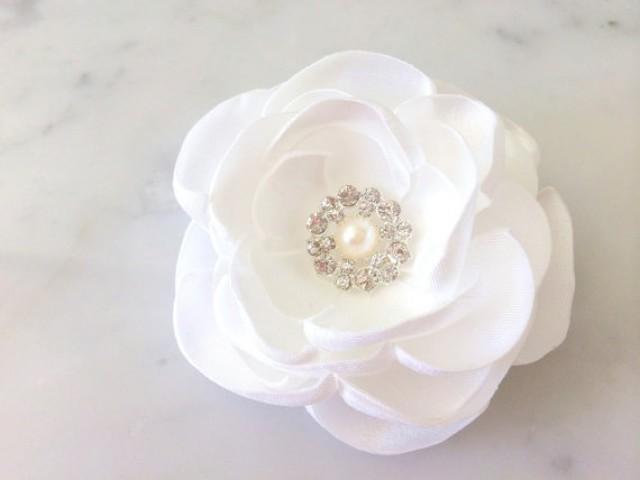 Bridal Ivory Flower Hair Accessories : Ivory hair flower wedding accessories