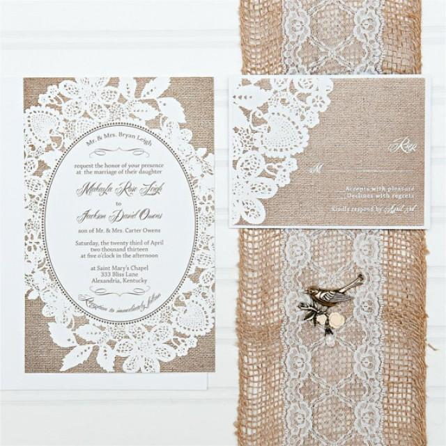 lace wedding invitations budget invitation invitation set with rsvp