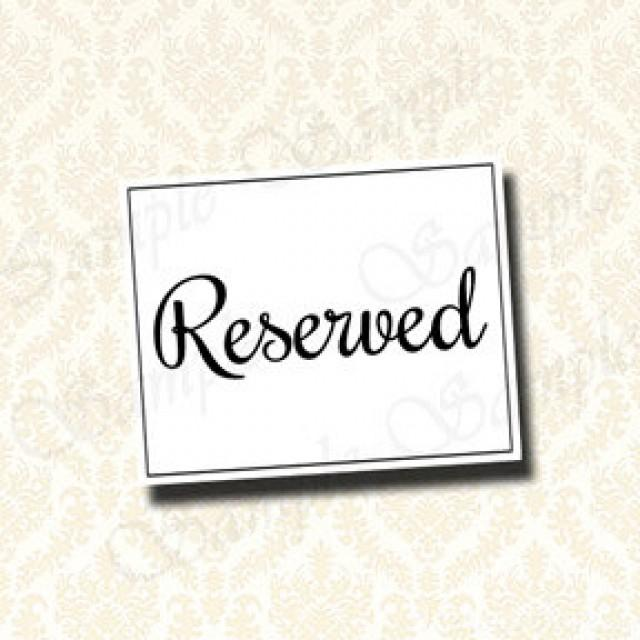 Wedding Reserved Sign Seat