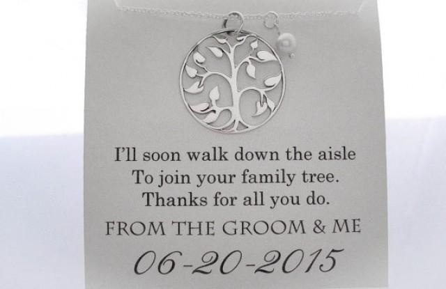 the-groom-necklace-mother-of-the-groom-gifts-family-tree-wedding-gifts ...