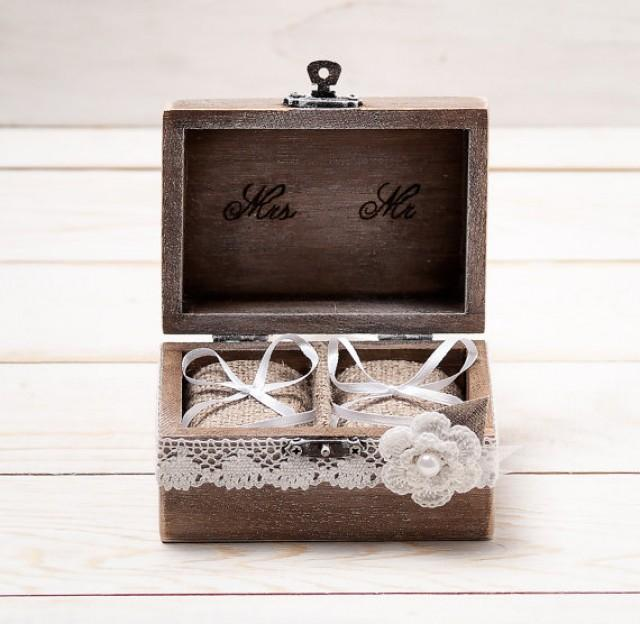 Wedding ring box wedding ring holder ring pillow bearer for Wedding ring holder box
