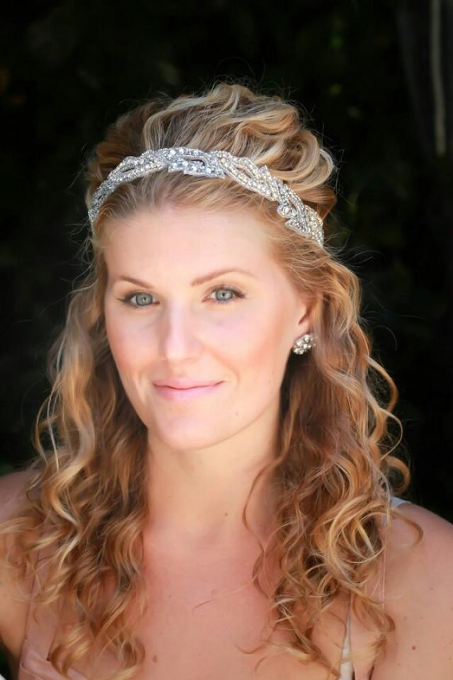 Wedding Hair With Rhinestone Headband : Sophie bridal headband wedding rhinestone