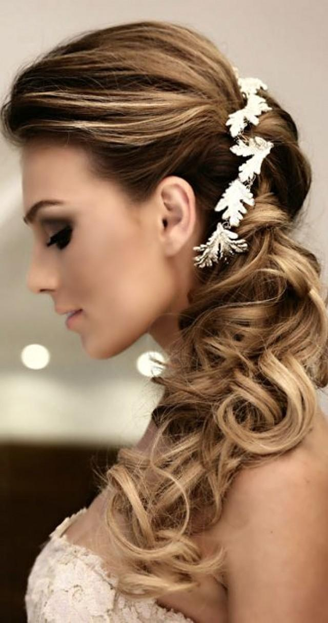 Hair - Side Swept Wedding Hairstyles To Inspire #2342898 ...
