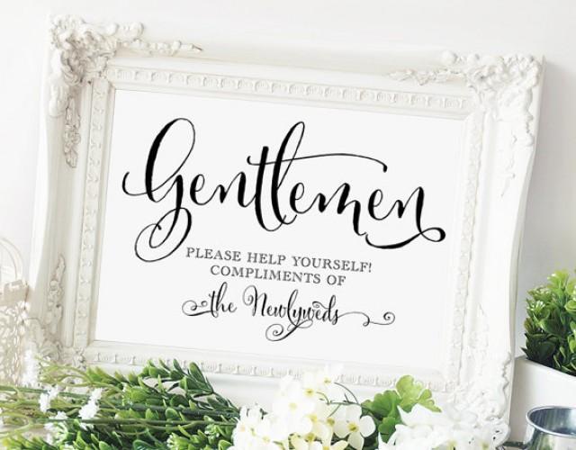 Gentlemen Wedding Bathroom Sign 5x7 Sign Diy Printable