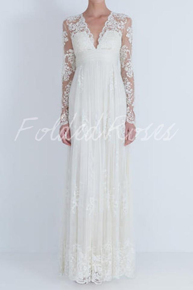 Lace wedding dress long sleeve wedding dress wedding gown for Ordering wedding dresses online