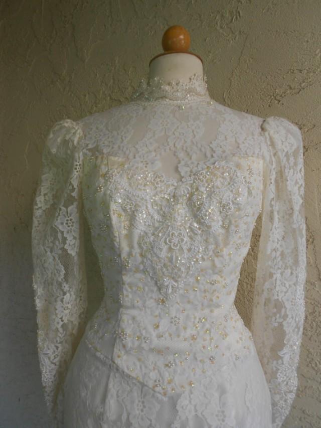 Vintage 80s Gunne Sax By Jessica Mcclintock Lace Wedding