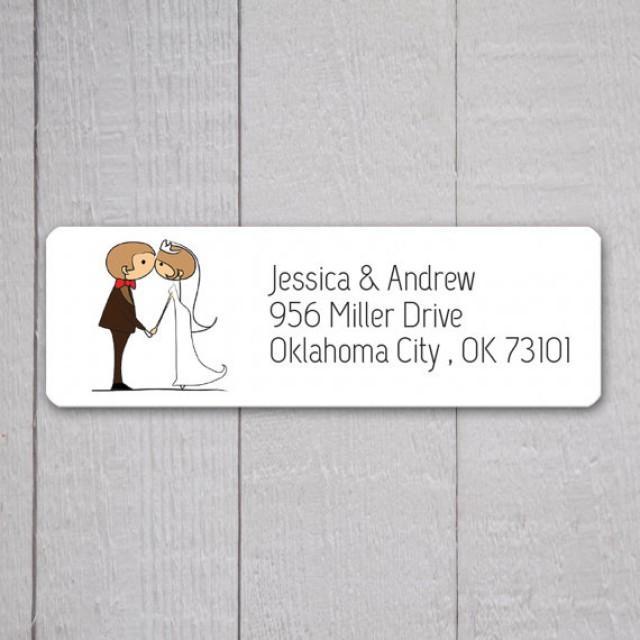 Bride Groom Return Address Labels Wedding Stickers Return Address Sti