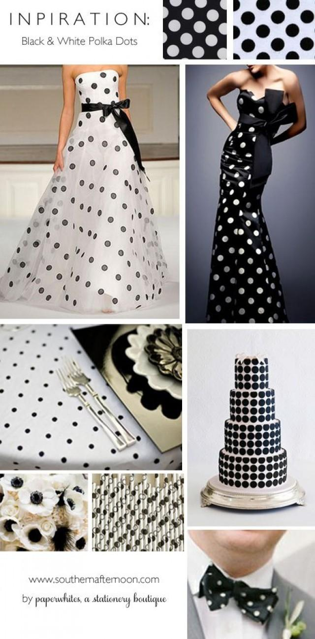 Black and white polka dots wedding inspiration 2346229 for Black and white polka dot decorations
