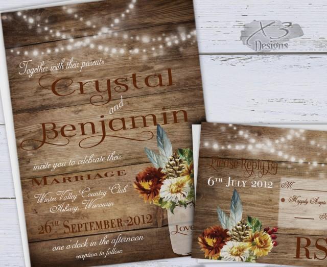 wedding photo - Rustic Fall Wedding, Rustic Mason Jar Wedding