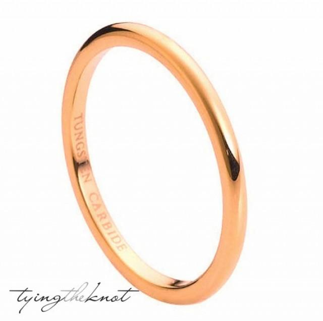rose gold plated ip band women wedding bands wedding rings engagement