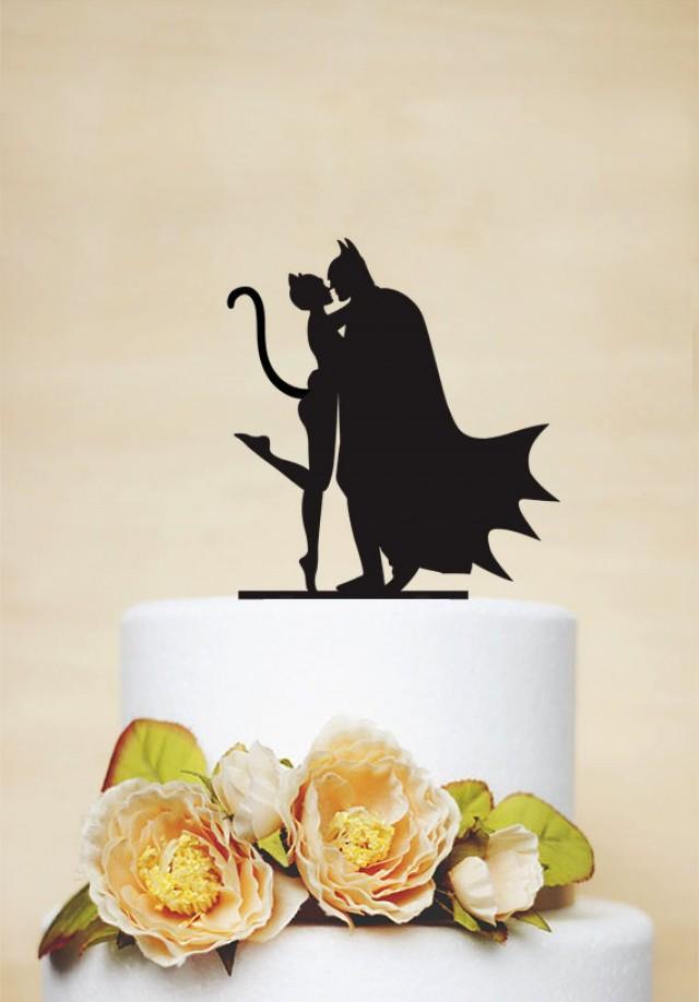 Batman Catwoman Wedding Cake Topper