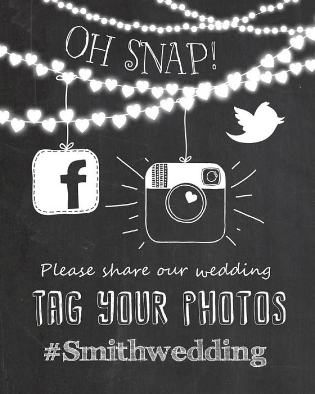 Social Media Wedding Sign Instagram Wedding Sign Chalkboard Instagram Sign Printable Chalkboard Hashtag Sign Jpg Pdf on Dot To 1 10 Printables