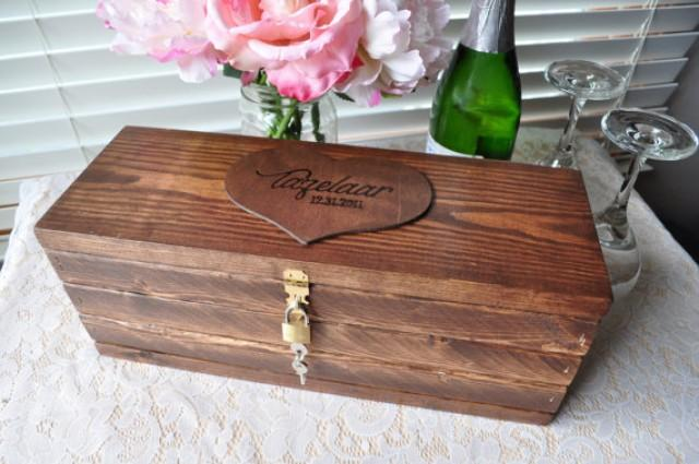 Wedding Gift Lock Box : Wooden Wine Box Personalized Wedding Wine Box Unique Wedding Gift Lock ...