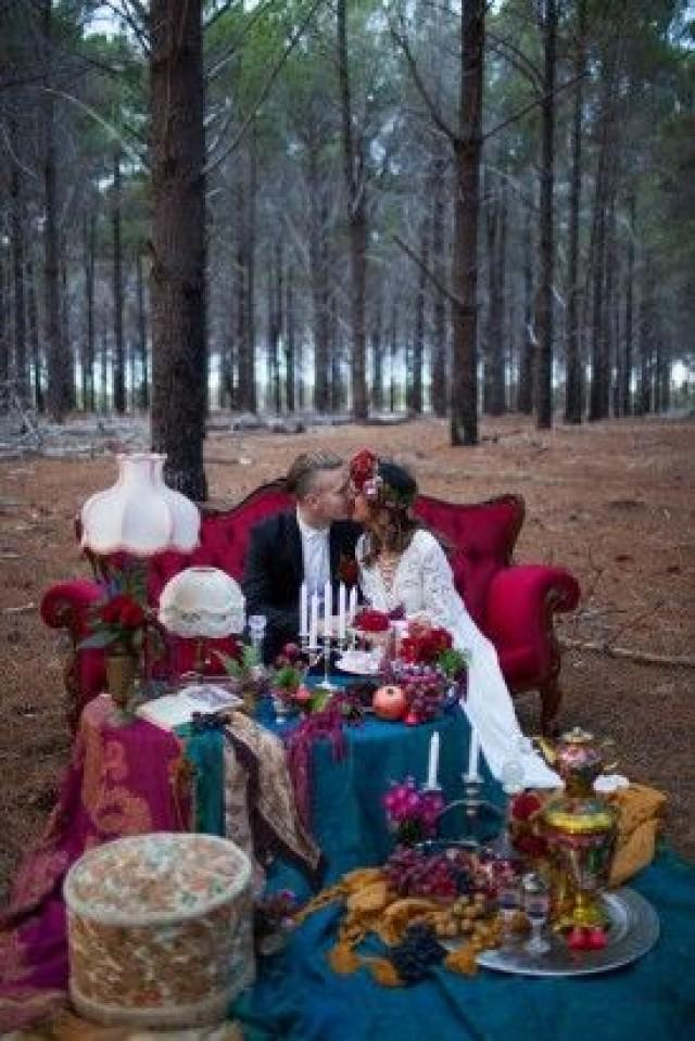 Tema Matrimonio Bohemien : Tema de la boda jewel toned bohemian wedding ideas