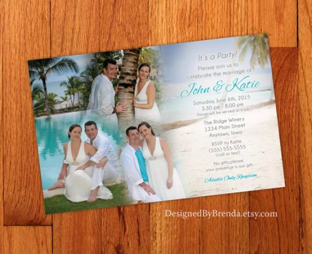 Blended Photo Collage Wedding Invitation