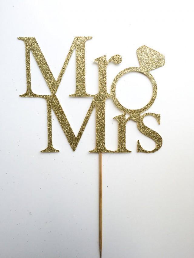 Etsy Mr Mrs Cake Topper
