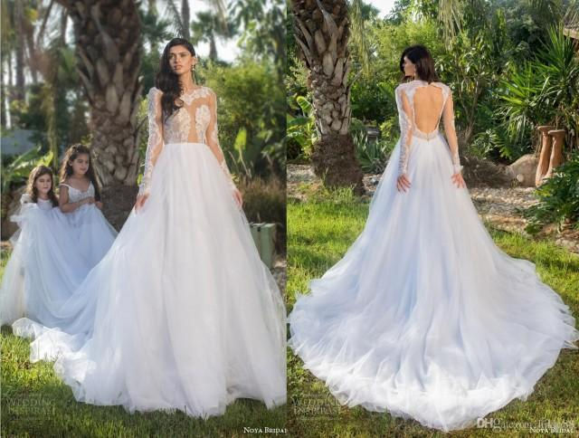 New arrival sexy see through backless wedding dresses for Backless wedding dresses online