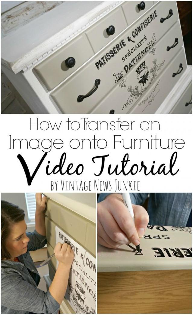 How To Transfer An Image Onto Furniture Video Tutorial 2350784 Weddbook