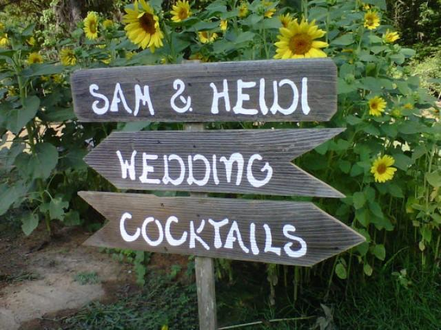 3 Wedding Signs With Stake Rustic Wedding Hand Painted Reception Sign Parking Signs Seating