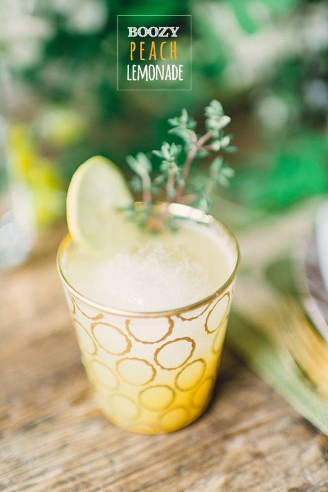Cócteles Y Bebidas - Boozy Peach Lemonade #2351429 - Weddbook