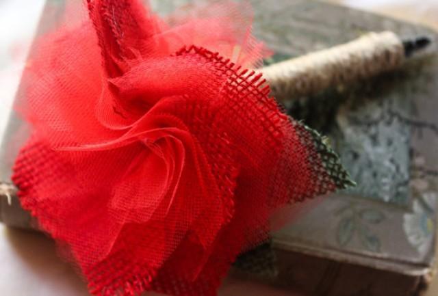 wedding photo - Guest Book Pen Sharpie-Rustic Vintage Wedding Pen-Burlap Flower Pen-Shabby flower pen