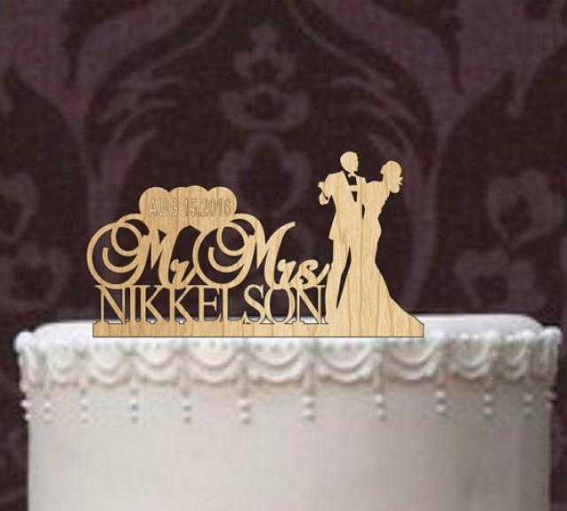Custom Last Name Cake Toppers