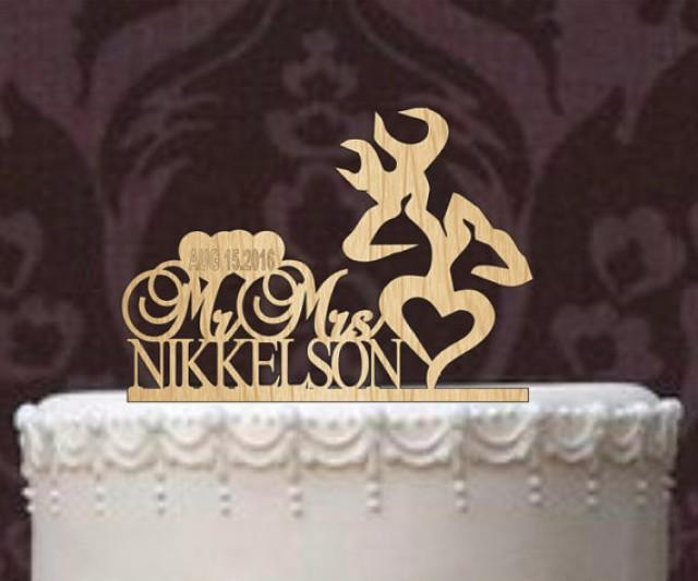 Deer Wedding Cake Topper Country Wedding Cake Topper