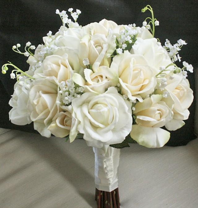 Touch Silk Flower Bride Bouquet Almost Fresh 2351975 Weddbook