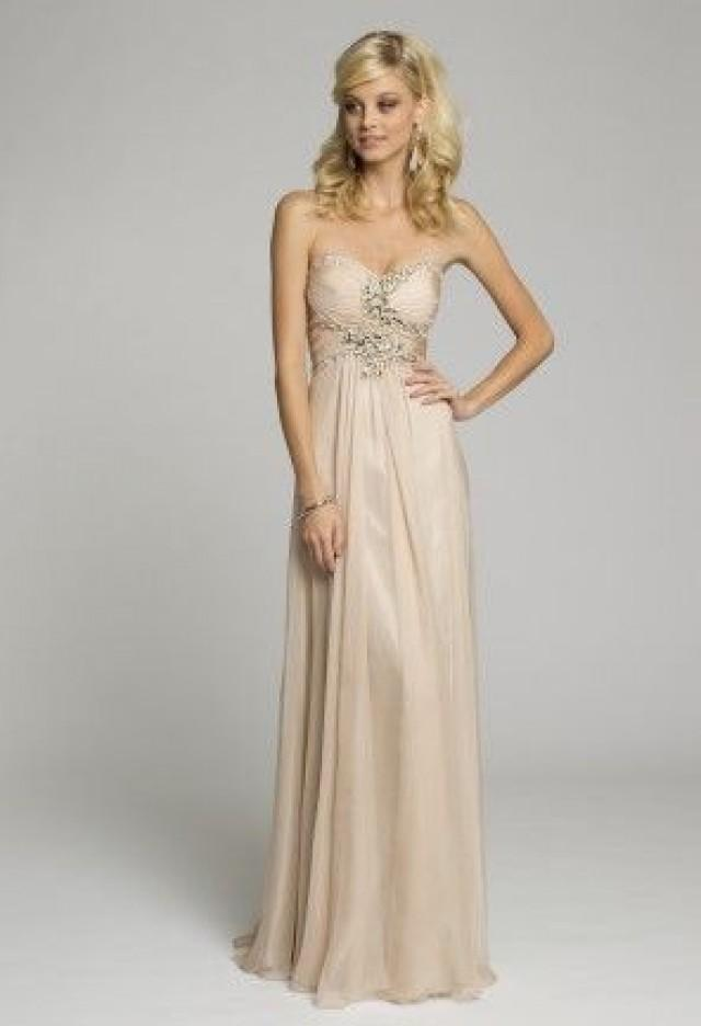 Strapless chiffon grecian dress from camille la vie and for Grecian chiffon wedding dress