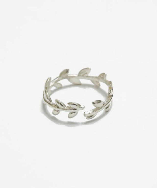 Simple Laurel Ring sterling Silver adjustable stack Ring knuckle Ring dainty