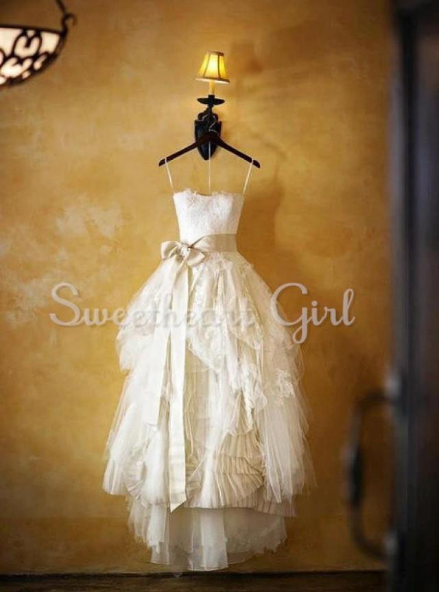wedding photo - Amazing Strapless Wedding Dress, wedding party dress from Sweetheart Girl