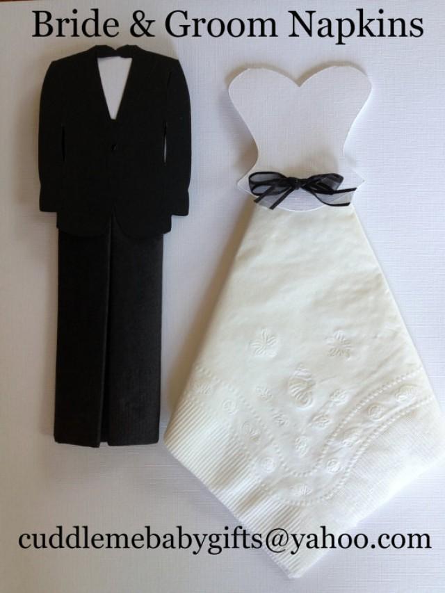 Wedding Shower Gift For Groom : Bridal Shower Bride & Groom Paper Napkins Bridal Shower Decorations ...