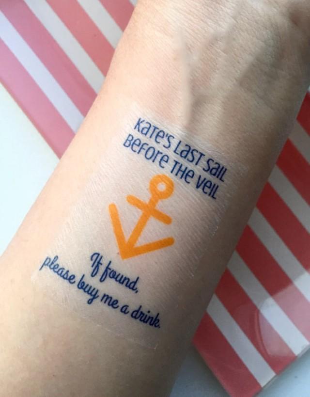 10 bachelorette party favor custom temporary tattoos last for Custom temp tattoos