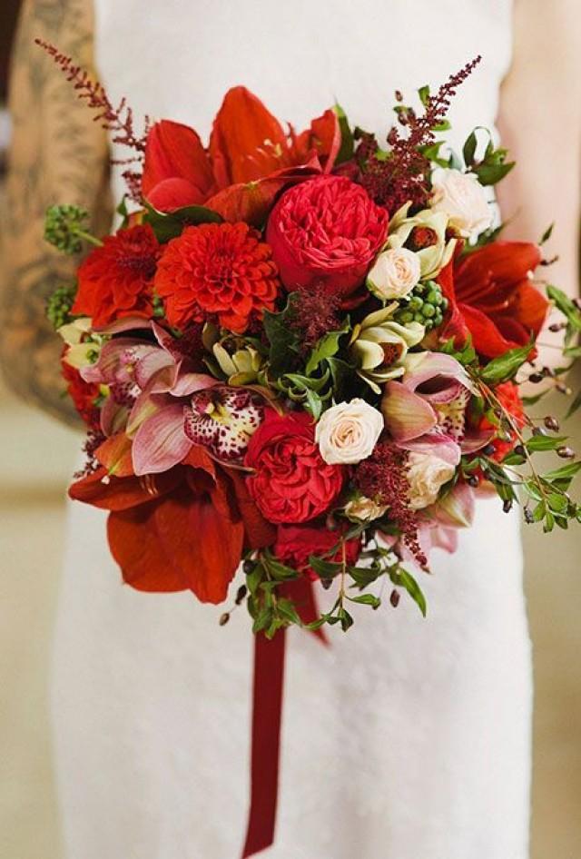 Bouquet flower red wedding bouquet ideas 2353695 weddbook for Red wedding flower ideas