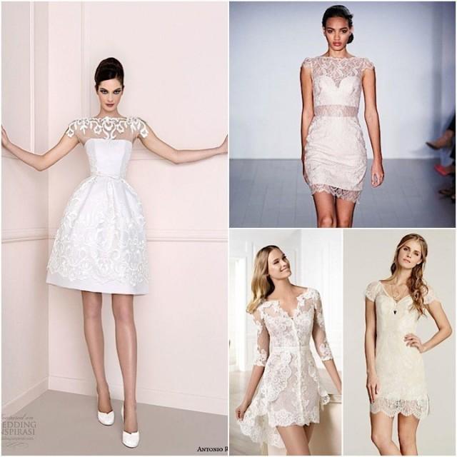 Classic Wedding Dresses Short : Short wedding dresses with classic style weddbook