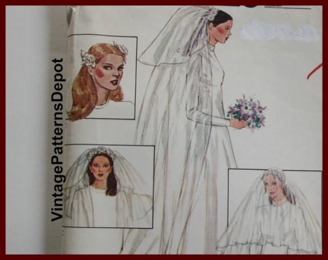 WEDDING VEIL Pattern Bridal Headpiece Pattern UNCUT