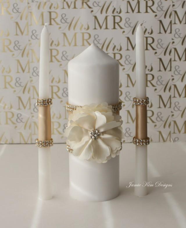 Wedding Unity Candle Bling Unity Candle Candles For Wedding Custom Order 2354760