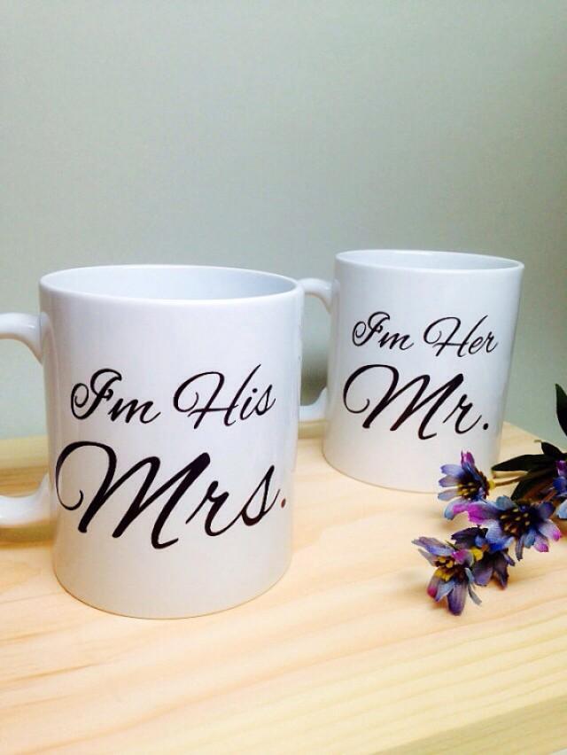 Unusual Wedding Shower Gifts : Bridal Shower Gift Mr And Mrs Coffee Mug Unique Bridal Shower Gift ...