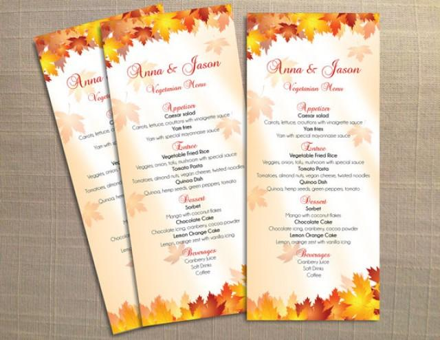 DIY Printable Wedding Menu Template 2355345 Weddbook