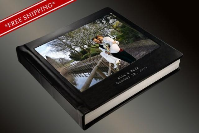 Photo Album Flush Mount Wedding Album With Full Cameo And