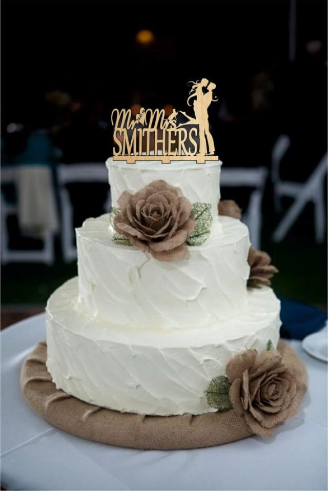 Mr And Mrs Name Cake Topper