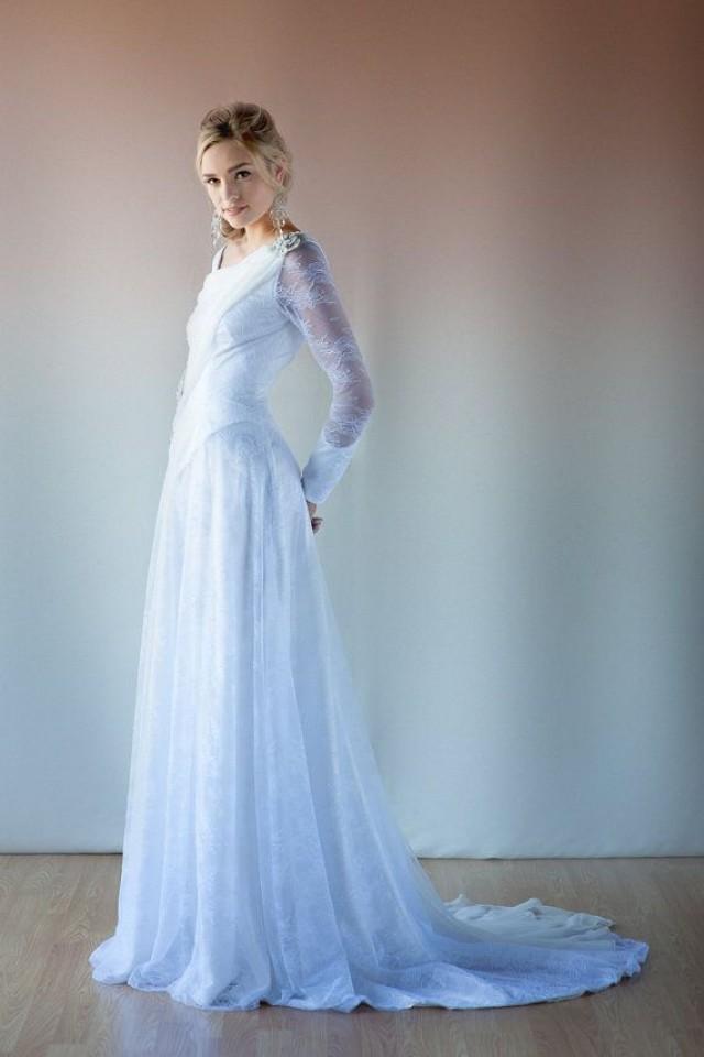 Frozen wedding dress white and