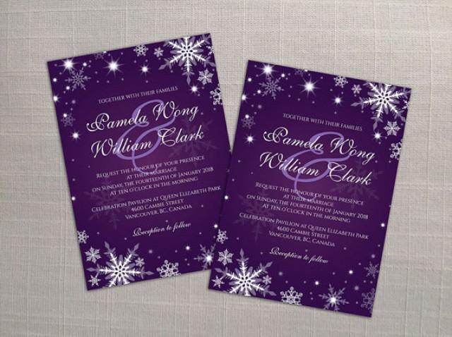 Wedding Invitation Card Download: DIY Printable Wedding Invitation Card Template #2358425