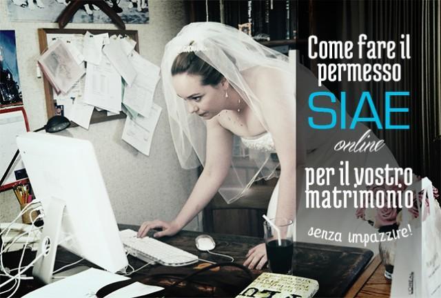 Matrimonio Simbolico Come Fare : Tutorial come fare permesso siae online per il matrimonio