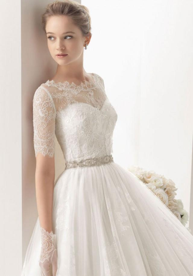wedding photo - sweetheart empire waist elegant & luxurious wedding dress - bessprom.com