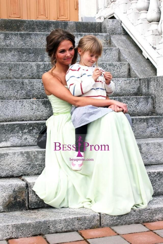 wedding photo - belt selling fast chiffon color prom dress - bessprom.com